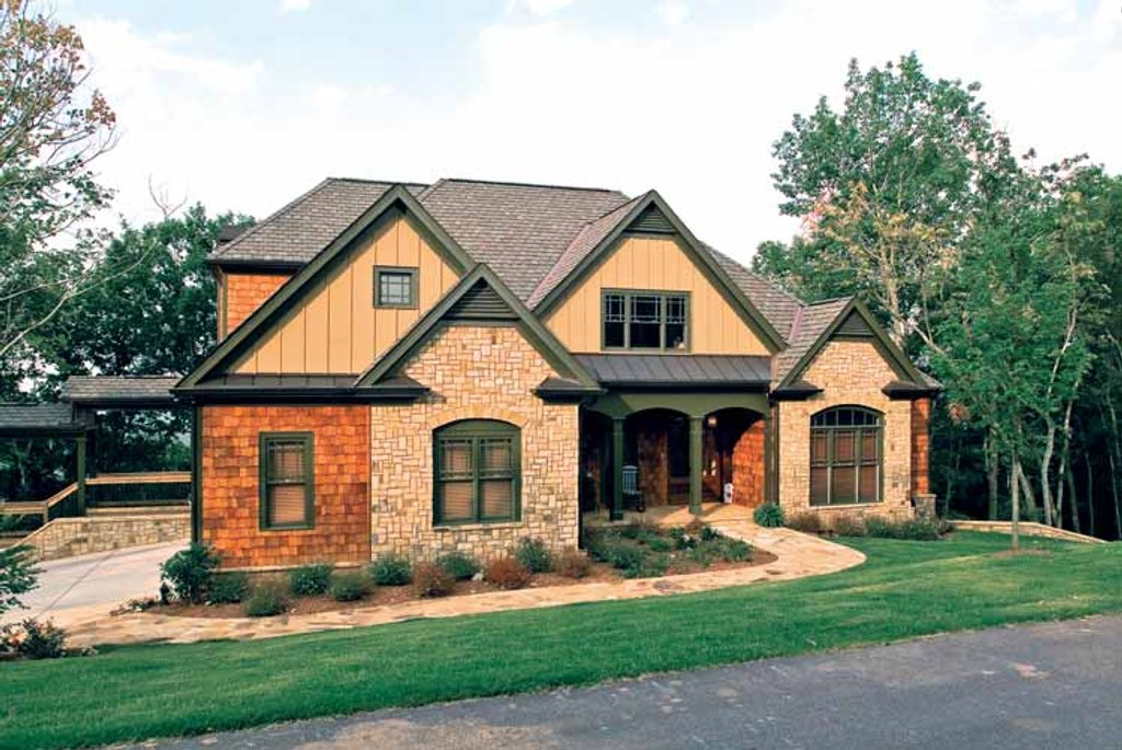 Country style house plan 4 beds 3 baths 3254 sq ft plan for Accent homes floor plans