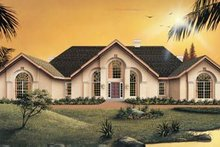 Dream House Plan - Mediterranean Exterior - Front Elevation Plan #57-123