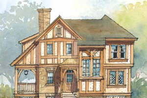 House Design - Tudor Exterior - Front Elevation Plan #429-319