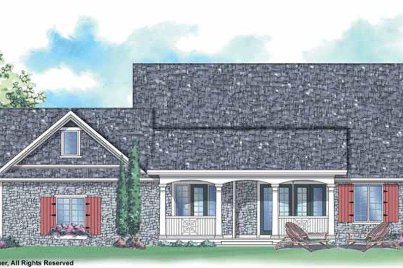 Country Exterior - Rear Elevation Plan #930-248 - Houseplans.com