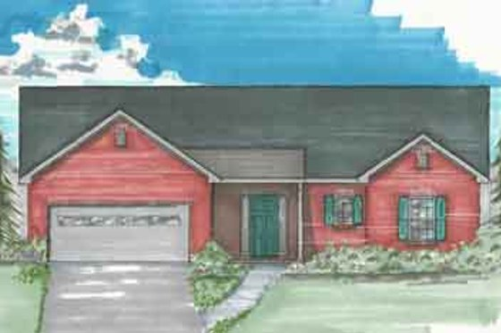 Traditional Exterior - Front Elevation Plan #136-103