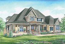 European Exterior - Front Elevation Plan #437-66