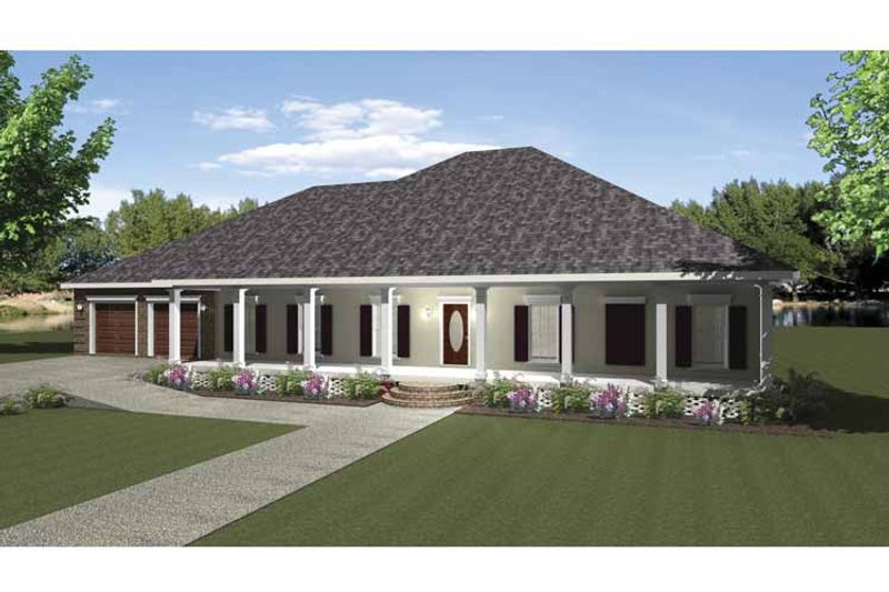 Country Exterior - Front Elevation Plan #44-212 - Houseplans.com