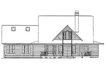 Home Plan - Country Exterior - Rear Elevation Plan #929-215