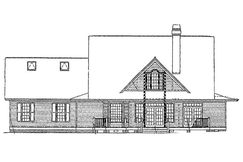 Country Exterior - Rear Elevation Plan #929-215 - Houseplans.com