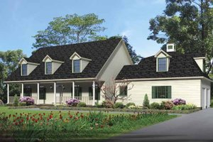 Colonial Exterior - Front Elevation Plan #1002-16