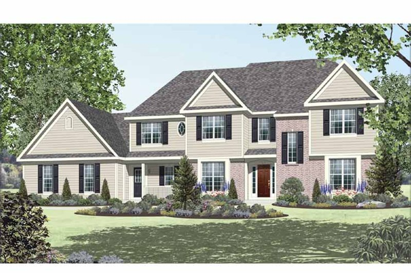 Country Exterior - Front Elevation Plan #328-463 - Houseplans.com