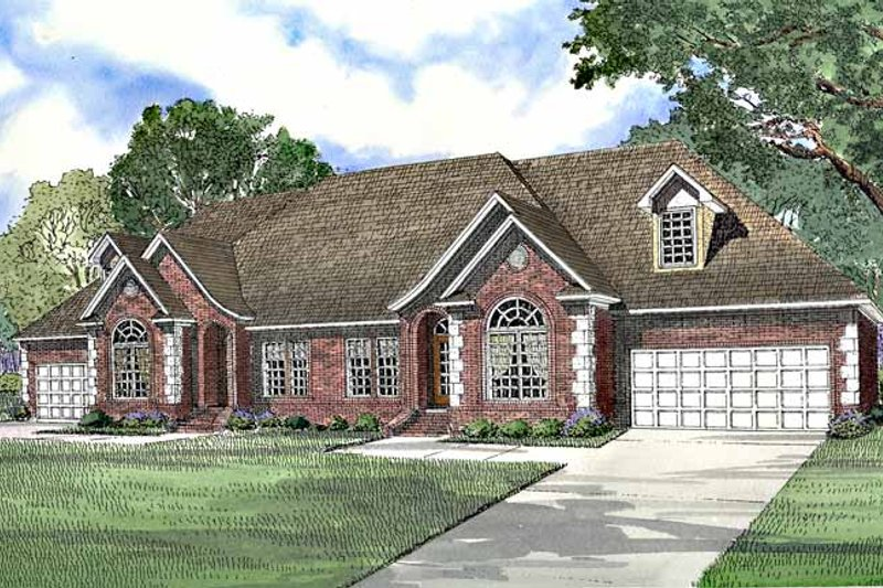 Country Exterior - Front Elevation Plan #17-3196