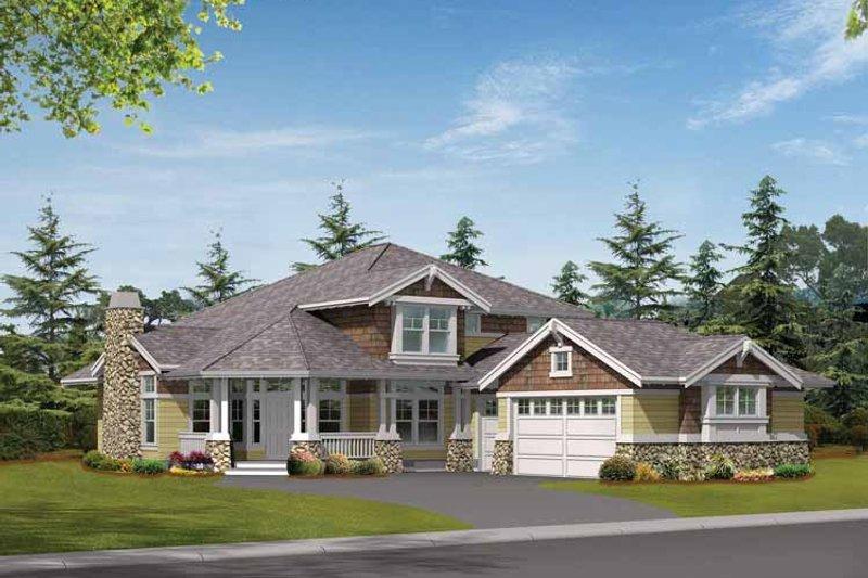 Craftsman Exterior - Front Elevation Plan #132-318