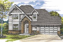 Architectural House Design - Traditional Exterior - Front Elevation Plan #47-906
