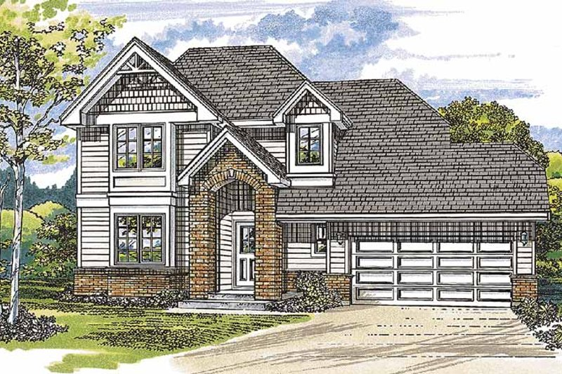House Blueprint - Traditional Exterior - Front Elevation Plan #47-906