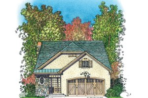 Dream House Plan - Country Exterior - Front Elevation Plan #1016-110