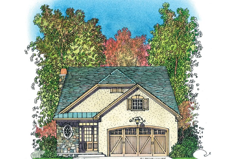 Country Exterior - Front Elevation Plan #1016-110