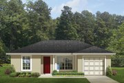 Ranch Style House Plan - 2 Beds 1 Baths 820 Sq/Ft Plan #1058-74 Exterior - Front Elevation