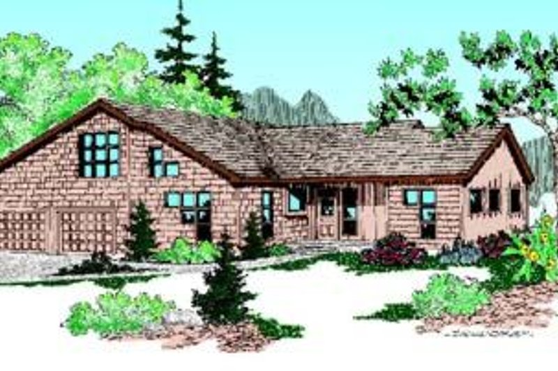 Traditional Exterior - Front Elevation Plan #60-392 - Houseplans.com