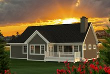 House Design - Ranch Exterior - Rear Elevation Plan #70-1209