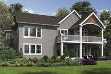 Cottage Exterior - Rear Elevation Plan #48-969