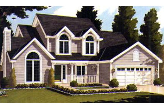 Country Exterior - Front Elevation Plan #3-235