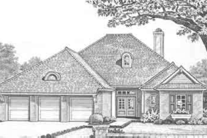 Home Plan - Traditional Exterior - Front Elevation Plan #310-315