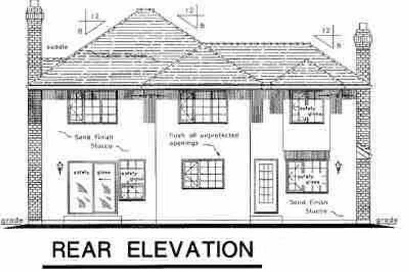 European Exterior - Rear Elevation Plan #18-205 - Houseplans.com