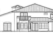 House Blueprint - Mediterranean Exterior - Rear Elevation Plan #72-160