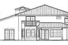 Dream House Plan - Mediterranean Exterior - Rear Elevation Plan #72-160