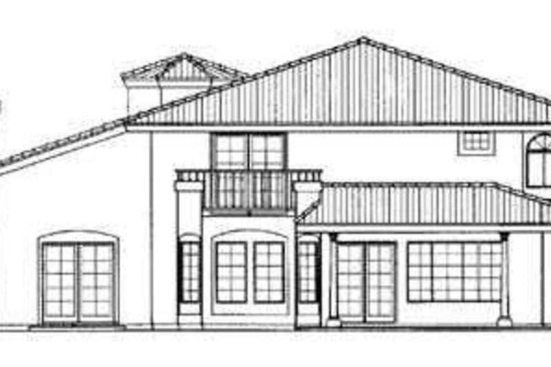 Mediterranean Exterior - Rear Elevation Plan #72-160 - Houseplans.com