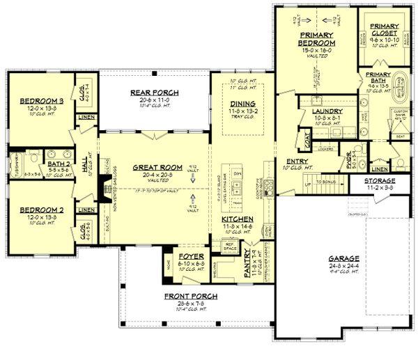 Dream House Plan - Farmhouse Floor Plan - Main Floor Plan #430-244