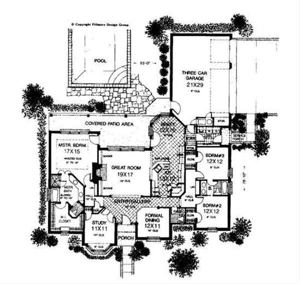 Colonial Floor Plan - Main Floor Plan #310-717