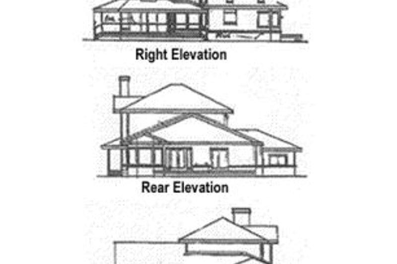 Traditional Exterior - Rear Elevation Plan #60-147 - Houseplans.com