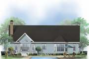 Ranch Style House Plan - 3 Beds 2 Baths 1650 Sq/Ft Plan #929-514 Exterior - Rear Elevation