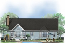 Home Plan - Ranch Exterior - Rear Elevation Plan #929-514