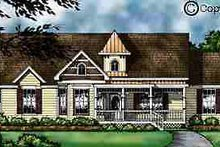 Country Exterior - Front Elevation Plan #40-113
