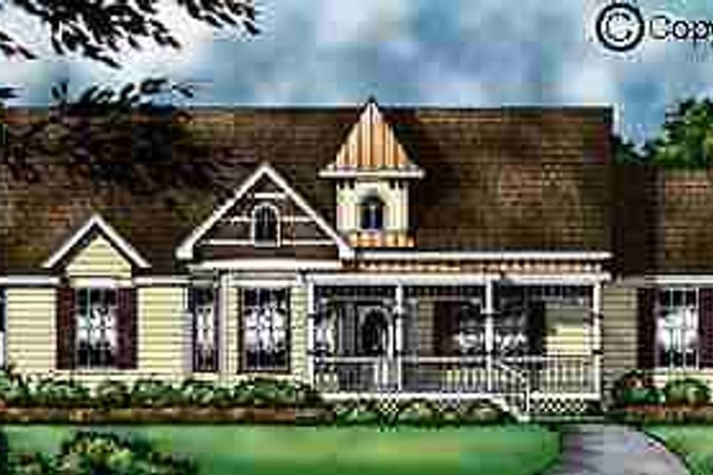 Country Exterior - Front Elevation Plan #40-113 - Houseplans.com