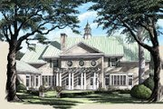 Colonial Style House Plan - 4 Beds 5 Baths 5387 Sq/Ft Plan #137-230 Exterior - Rear Elevation