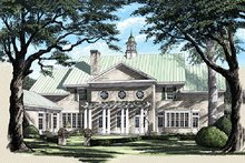 Colonial Exterior - Rear Elevation Plan #137-230