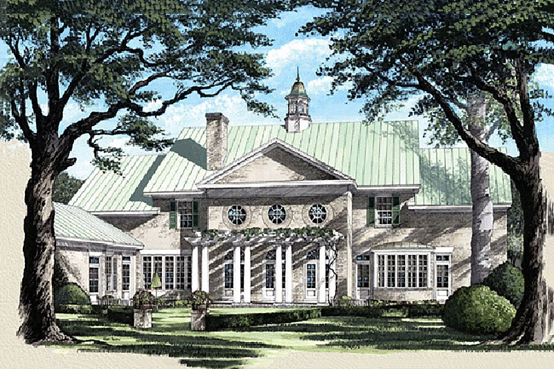 Colonial Exterior - Rear Elevation Plan #137-230 - Houseplans.com