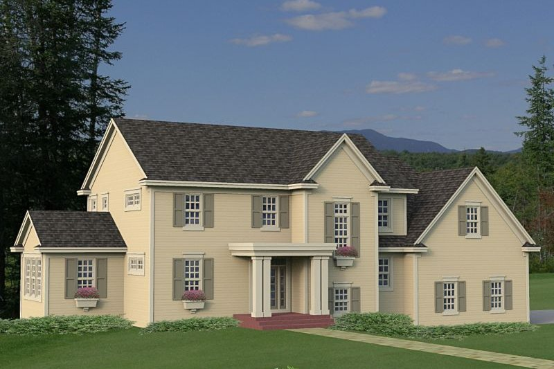 House Plan - 4 Beds 2.5 Baths 3465 Sq/Ft Plan #51-540 Exterior - Front Elevation