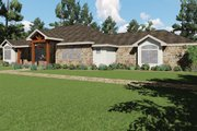 Craftsman Style House Plan - 3 Beds 3 Baths 2933 Sq/Ft Plan #935-10 Exterior - Front Elevation