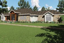 Dream House Plan - Craftsman Exterior - Front Elevation Plan #935-10