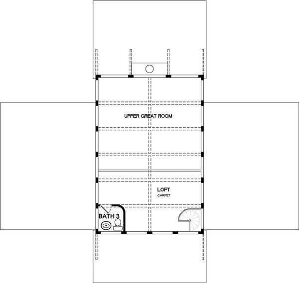 Contemporary Floor Plan - Upper Floor Plan #140-161