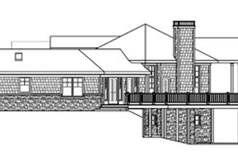 Ranch Exterior - Other Elevation Plan #124-728 - Houseplans.com