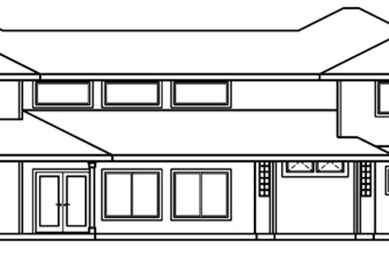 Traditional Exterior - Rear Elevation Plan #124-518 - Houseplans.com