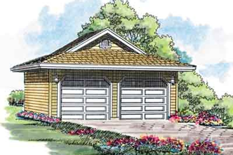 Traditional Exterior - Front Elevation Plan #47-643 - Houseplans.com