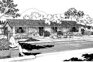 Ranch Exterior - Front Elevation Plan #303-157