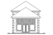 House Plan Design - European Exterior - Rear Elevation Plan #126-227