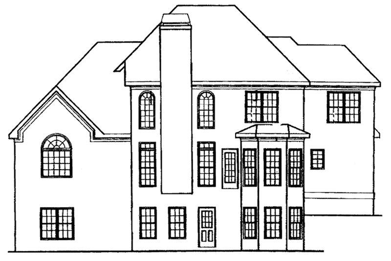 Traditional Exterior - Rear Elevation Plan #927-29 - Houseplans.com