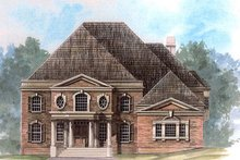 Dream House Plan - Colonial Exterior - Front Elevation Plan #119-316