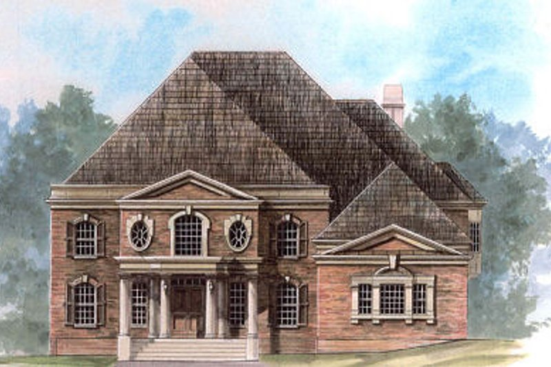 Colonial Exterior - Front Elevation Plan #119-316
