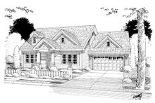 Home Plan Design - Country Exterior - Other Elevation Plan #513-2058
